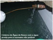 SRA Engenharia - Cisterna de Água de Reuso com a água